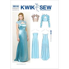 Misses Dresses and Jackets Kwik Sew Sewing Pattern No. 3516