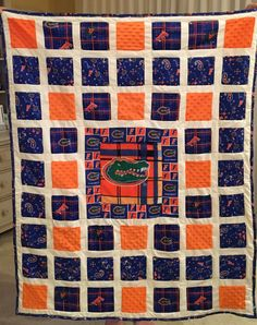 Extra large Gators baby quilt.