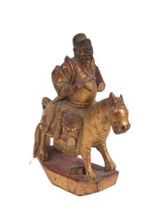 China 19./20. Jh. Holzfigur - A Chinese Wood Figure - Statuette Chinois Cinese
