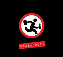 """Chuck TV show """"Pineapple!"""" black phone case by GreenSpeed"""