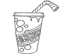 Milkshake Coloring Pages - Worksheet School Coloring Pages, Coloring Worksheets, Milkshake, School, Drawings, Google Search, Quote Coloring Pages, Colouring Sheets, Smoothie