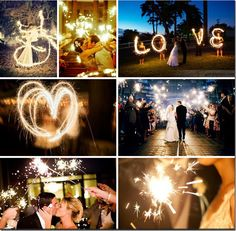 I need to find a photographer who can shoot these wondies!! more fun with sparklers...some fun wedding party pics!