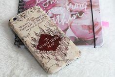 Mobile Phone Case / Smartphone Case Harry Potter.  Marauders Map made via Caseapp