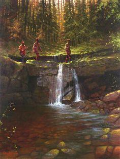 Stone Bridge Crossing by Doug Hall $395