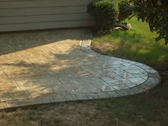stamped concrete patio..ours is going in this week! :)