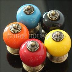 Poignée de porte en ceramique bouton tiroir meuble armoire placard knob 38mm in Bricolage, Quincaillerie, ferronnerie | eBay