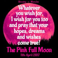It's going to be a PINK full moon tonight. This will bring a huge energy shift and is wonderful for NEW BEGINNINGS! To find out more AND learn the Full Moon WISHING prayer CLICK HERE ➡ http://www.tranquilwaters.uk.com/fullmoon The prayer helps you to ask for all that you may be wishing for at this time - and don't forget to leave your crystals out in the moonlight to charge at this magical time #fullmoon #wish #luck #prayer