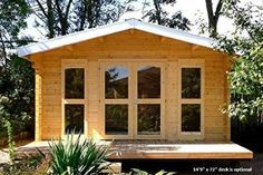 LOVE this little cabin! Allwood Kit Cabin Sunray The windows just set it off. How cute would that be for your Tiny Home?