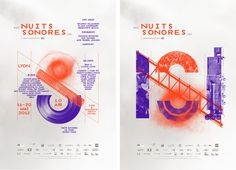 Nuits Sonores 2012 Design graphique — affiche , identité visuelle , 2012  Conception graphique, identité visuelle et campagne de communication  des 10 ans du festival Nuits sonores.  Festival de musique indie et électronique, Lyon.