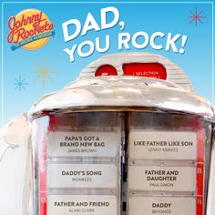 Your classic American restaurant with family-friendly dancing, music and ketchup art. Serving over the top milkshakes, hand-crafted hamburgers and fun. Fathers Day Ecards, You Rock, Love Him, Dads, Fathers