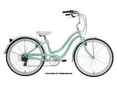 Women's sea foam green Beach Cruiser Bike from Nirve.com