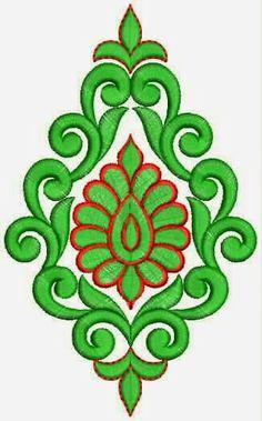 Handmade Patch Designs For Ethnic Dresses Embroidery Neck Designs, Hand Embroidery Videos, Embroidery Works, Embroidery Patterns, Machine Embroidery, Stencil Patterns, Stencil Designs, Rakhi Design, Simple Flower Design