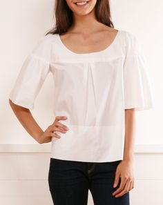 Cute blouse if it were in a color.