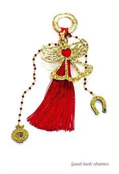Glücksbringer für Weihnachten Tassel Necklace, Charmed, Marble, Jewelry, Fashion, Fashion Styles, Arts And Crafts, Schmuck, Christmas