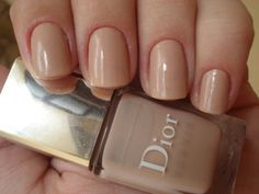 Dior nude nailpolish.