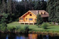 Log Cabin on a lake in Alaska! I want to stay here sooo bad!