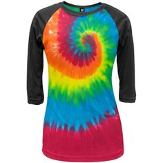 I found 'Old Glory - Tie-Dye Juniors Raglan' on Wish, check it out!