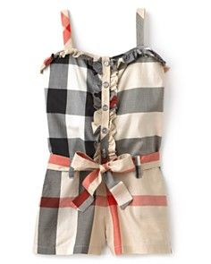 Burberry Romper--- omg I must get this romper for AnnaMaria!!