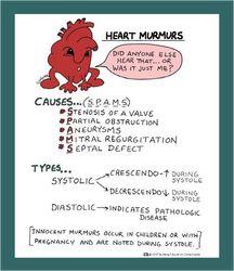 MNEMONIC - heart murmurs.
