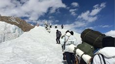 The Civilian Trek on Siachen glacier is almost over. Just 16,000 feet more to rise! ~ Photo: Dinakar Peri