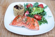 Seared Steelhead Trout with Couscous and Arugula Salad