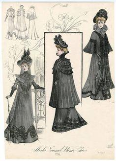 Women 1896-1905 Oversized, Plate 018. Fashion plates, 1790-1929. The Costume Institute Fashion Plates. The Metropolitan Museum of Art, New York. Gift of Woodman Thompson (b17509853) #fashion
