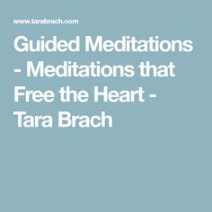 Guided Meditations -