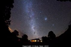 Southern Milky Way over Timor Cottage, near Coonabarabran, NSW, Australia