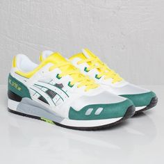 The newly ASICS Gel Lyte III gets treated with a OG White Green-Yellow  makeup. Featuring a combination of eye-catchign Green and Yellow on top a  White base ... 9b6f34be0b