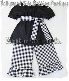 Custom Boutique Clothing Black Peasant Dress by ZamakerrClothingCo, $35.99