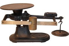 Vintage Balance Scale $269. I have one of these. Beautiful.