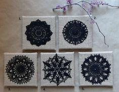 2014 Wall Decor Ideas - Home Decor Crocheted Lace Doily Wall Hanging Handmade Crochet Wall Art, Crochet Table Mat, Crochet Wall Hangings, Crochet Home Decor, Doilies Crafts, Lace Doilies, Crochet Doilies, Crocheted Lace, Crochet Stone