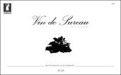 étiquette de vin de sureau