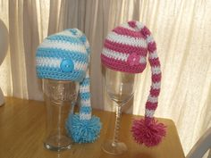 For a pair of twins, crochet hat