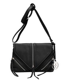 5c3f49550c78 Black Carly Flap Crossbody Bag by Jessica Simpson Collection  zulily   zulilyfinds Jessica Simpson Collection