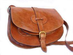 Cuoio Saddle Bag borsa Messenger in pelle borsa in pelle