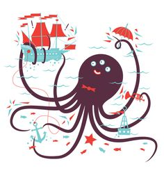 We Set Sail - Velcro Suit - The Graphic Design and Illustration of Adam Hill