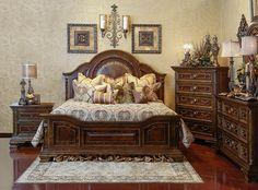 Handly Manor Pecan 7 Pc King Panel Bedroom Furniture Wish List Pinterest King Bedroom