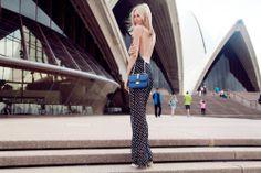 Reformation backless jumpsuit! Sydney, Australia.