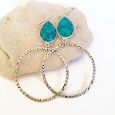 Statement Earrings turquoise earrings beach jewelry by AinaKai