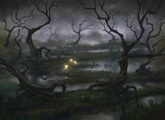 Swamp, Marius Janusonis on ArtStation at https://www.artstation.com/artwork/EE5n0
