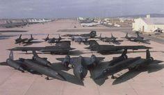 SR-71 Blackbird's. So many... what a rare site!