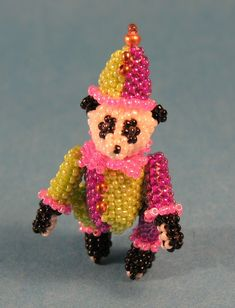 "1 1/2"" Panda Clown Peyote Stitch"