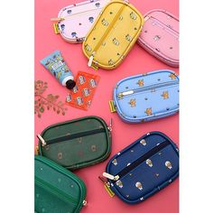 Kakao Friends Character Canvas Cute Oval Coin Wallet Purse Faux Leather Pouch Kakao Friends, E Bay, My Bags, Jazz, Coin Purse, Wallet, Chic, Inspiration, Accessories