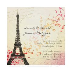 Shop Paris in Love - Eiffel Tower Postcard created by perfectpostage. Personalize it with photos & text or purchase as is! Parisian Wedding Theme, Paris Wedding, French Wedding, Parisian Party, Parisian Decor, Paris Torre Eiffel, Paris Eiffel Tower, Thema Paris, Paris Amor