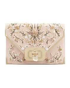 FLORAL - beaded blooms on this Marchesa clutch.
