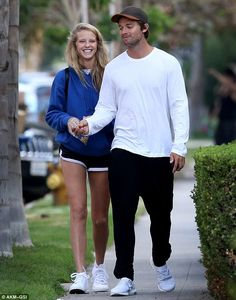 Movie night! Patrick Schwarzenegger and Abby Champion took a stroll to the movie theater in Los Angeles on Monday to see Pete's Dragon