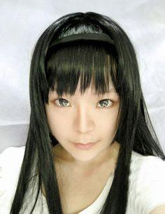 Puella Magi Madoka Magica Akemi Homura Black Long Hair Cosplay Wig #wig