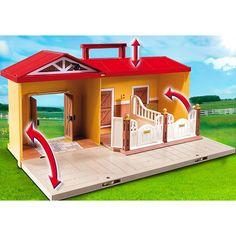 Playmobil Country Nowa przenośna stajnia, 5348, klocki