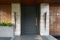 Image 16 of 24 from gallery of CL House / Axial Studio. Photograph by Mario Wibowo Door Design Interior, Main Door Design, Front Door Design, Entrance Design, Facade Design, Modern Entrance Door, Home Entrance Decor, House Entrance, Porte Design